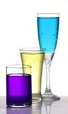 Διαφορετικά χρωματισμένα ποτά συμβαλλόμενων μερών στοκ εικόνες με δικαίωμα ελεύθερης χρήσης
