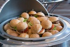 Διαφορετικά burgers στο πιάτο Στοκ Φωτογραφία