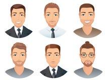 Διαφορετικά hairstyles για τα άτομα Στοκ Φωτογραφία