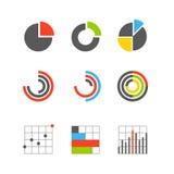 Διαφορετικές γραφικές επιχειρησιακά εκτιμήσεις και διαγράμματα Στοκ Εικόνες