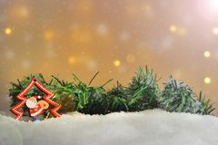 διαφορετικές διακοσμήσεις Χριστουγέννων Στοκ εικόνα με δικαίωμα ελεύθερης χρήσης