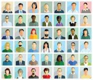 Διαφορετικές κάρτες ομάδων ανθρώπων ελεύθερη απεικόνιση δικαιώματος