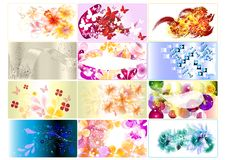 διαφορετικές καθορισμένες μορφές επαγγελματικών καρτών ελεύθερη απεικόνιση δικαιώματος