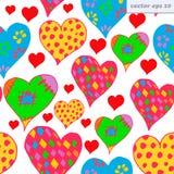 Διαφορετικές καρδιές Στοκ Εικόνα