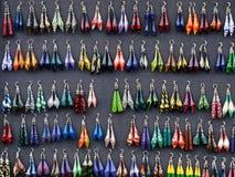 διαφορετικές μορφές σκουλαρικιών χρωμάτων Στοκ Εικόνα