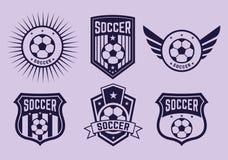 Διαφορετικές λογότυπα και ομάδες ποδοσφαίρου εικονιδίων Στοκ εικόνα με δικαίωμα ελεύθερης χρήσης