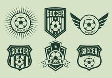 Διαφορετικές λογότυπα και ομάδες ποδοσφαίρου εικονιδίων Στοκ φωτογραφία με δικαίωμα ελεύθερης χρήσης