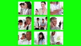 Διαφορετικές οθόνες που παρουσιάζουν επιχειρηματίες ελεύθερη απεικόνιση δικαιώματος