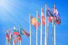 διαφορετικές σημαίες χωρών Στοκ φωτογραφία με δικαίωμα ελεύθερης χρήσης