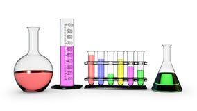 Διαφορετικές φιάλες χημείας Στοκ εικόνα με δικαίωμα ελεύθερης χρήσης