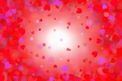 Διαφορετικές χρωματισμένες καρδιές, απεικόνιση Στοκ Εικόνα