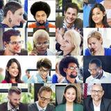 Διαφορετική έννοια ανθρώπων ομάδας προσώπων κολάζ Στοκ εικόνες με δικαίωμα ελεύθερης χρήσης