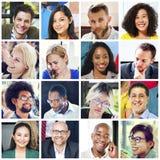 Διαφορετική έννοια ανθρώπων ομάδας προσώπων κολάζ Στοκ φωτογραφία με δικαίωμα ελεύθερης χρήσης