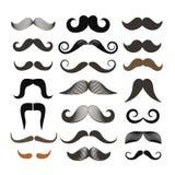 Διαφορετική αναδρομική συνδετήρας-τέχνη ύφους moustache ελεύθερη απεικόνιση δικαιώματος