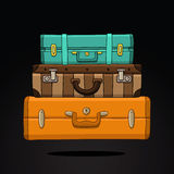 Διαφορετική βαλίτσα τρία Στοκ Φωτογραφία