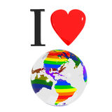 διαφορετική γη ι αγάπη Ελεύθερη απεικόνιση δικαιώματος