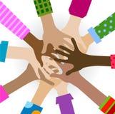 Διαφορετική ενότητα χεριών ελεύθερη απεικόνιση δικαιώματος