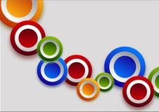 Διαφορετικοί κύκλοι χρώματος Στοκ Εικόνες