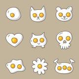 Διαφορετικοί τύποι και μορφές αυγών Στοκ εικόνες με δικαίωμα ελεύθερης χρήσης