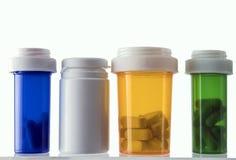 Διαφορετικοί τύποι καλλυντικών εμπορευματοκιβωτίων και απομονωμένων φαρμάκων στοκ φωτογραφίες