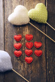 Διαφορετικοί τύποι καρδιών υφάσματος Στοκ φωτογραφίες με δικαίωμα ελεύθερης χρήσης
