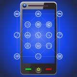 Διαφορετικοί τύποι να κάνει με το smartphone σας Διανυσματική απεικόνιση
