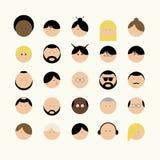 Διαφορετικοί τύποι προσώπων εικονιδίων ανθρώπων Στοκ εικόνα με δικαίωμα ελεύθερης χρήσης