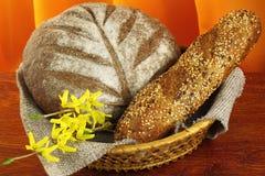 Διαφορετικοί τύποι ψωμιών darck Στοκ εικόνα με δικαίωμα ελεύθερης χρήσης