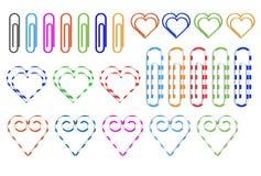 Διαφορετικοί χρωματισμένοι συνδετήρες εγγράφου Στοκ φωτογραφία με δικαίωμα ελεύθερης χρήσης