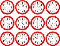Διαφορετικοί χρόνοι ρολογιών διανυσματική απεικόνιση