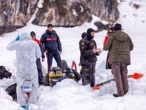 Διαφορετικός έτοιμος σκαφάνδρων Carabinieri για μια επίδειξη διάσωσης Στοκ εικόνες με δικαίωμα ελεύθερης χρήσης