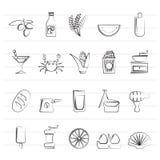 Διαφορετικός βασιλιάς των εικονιδίων 3 τροφίμων και ποτών Στοκ φωτογραφία με δικαίωμα ελεύθερης χρήσης