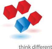 διαφορετικός σκεφτείτ&epsil Απεικόνιση αποθεμάτων