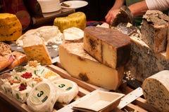 Διαφορετικό είδος ιταλικού τυριού στον οικοδεσπότη 2013 στο Μιλάνο, Ιταλία Στοκ Εικόνα