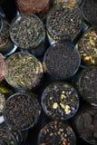 Διαφορετικό πράσινο και μαύρο τσάι ελίτ ποικιλιών Στοκ εικόνες με δικαίωμα ελεύθερης χρήσης