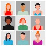 Διαφορετικό σύνολο ειδώλων ανθρώπων διανυσματική απεικόνιση