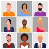 Διαφορετικό σύνολο ειδώλων ανθρώπων απεικόνιση αποθεμάτων