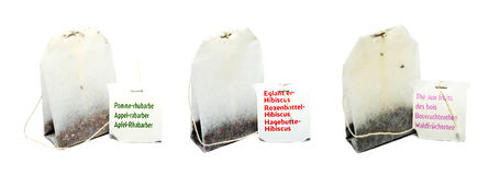 διαφορετικό τσάι τρία τσαντών Στοκ φωτογραφία με δικαίωμα ελεύθερης χρήσης