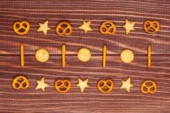 Διαφορετικό υπόβαθρο κροτίδων μπισκότων διακοσμήσεων Στοκ Φωτογραφία