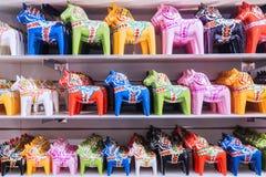 Διαφοροποιημένο αναμνηστικό αλόγων από τη Σουηδία Στοκ φωτογραφία με δικαίωμα ελεύθερης χρήσης