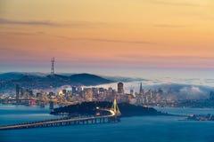 Διαφυγή θερινής ομίχλης στο Σαν Φρανσίσκο Στοκ Φωτογραφίες
