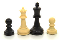 Διαφυλετική οικογένεια σκακιού Στοκ φωτογραφίες με δικαίωμα ελεύθερης χρήσης