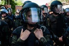 Διαφωνίες μεταξύ Azov του αστικού σώματος με την αστυνομία Στοκ φωτογραφία με δικαίωμα ελεύθερης χρήσης