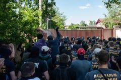 Διαφωνίες μεταξύ Azov του αστικού σώματος με την αστυνομία Στοκ εικόνες με δικαίωμα ελεύθερης χρήσης
