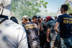 Διαφωνίες μεταξύ Azov του αστικού σώματος με την αστυνομία Στοκ φωτογραφίες με δικαίωμα ελεύθερης χρήσης