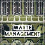Διαχείρηση αποβλήτων ανακύκλωση Εναέρια άποψη του σχεδίου επεξεργασίας λυμάτων Στοκ Εικόνες