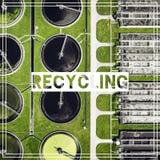 Διαχείρηση αποβλήτων ανακύκλωση Εναέρια άποψη του σχεδίου επεξεργασίας λυμάτων Στοκ φωτογραφίες με δικαίωμα ελεύθερης χρήσης
