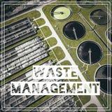 Διαχείρηση αποβλήτων ανακύκλωση Εναέρια άποψη του σχεδίου επεξεργασίας λυμάτων Στοκ φωτογραφία με δικαίωμα ελεύθερης χρήσης