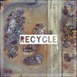 Διαχείρηση αποβλήτων ανακύκλωση Πρώτες ύλες σιδήρου που ανακυκλώνουν το σωρό, Στοκ Εικόνα