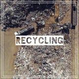 Διαχείρηση αποβλήτων ανακύκλωση Πρώτες ύλες σιδήρου που ανακυκλώνουν το σωρό, Στοκ εικόνες με δικαίωμα ελεύθερης χρήσης